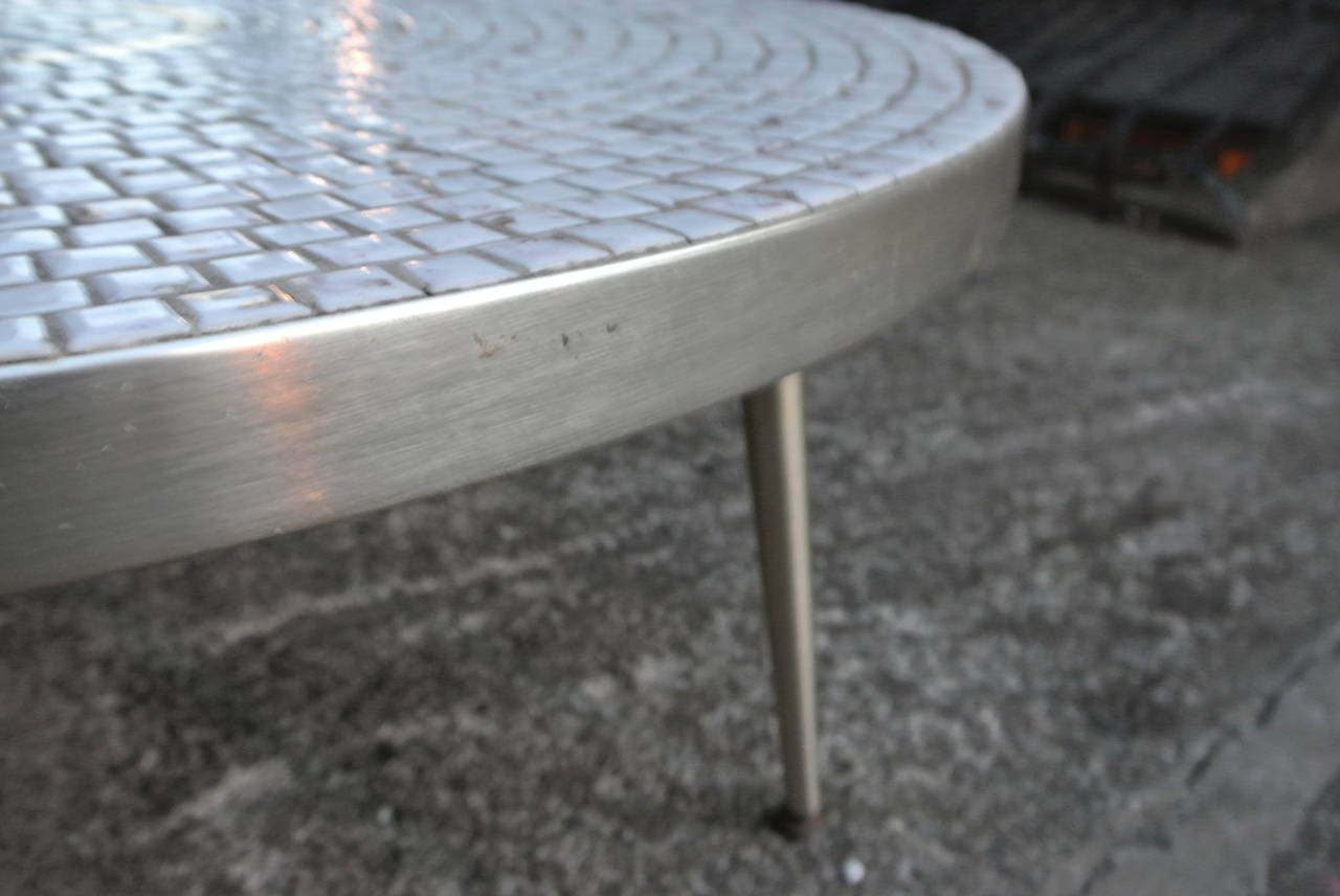 Mosiac Tile Top Brass Coffee Table At 1stdibs