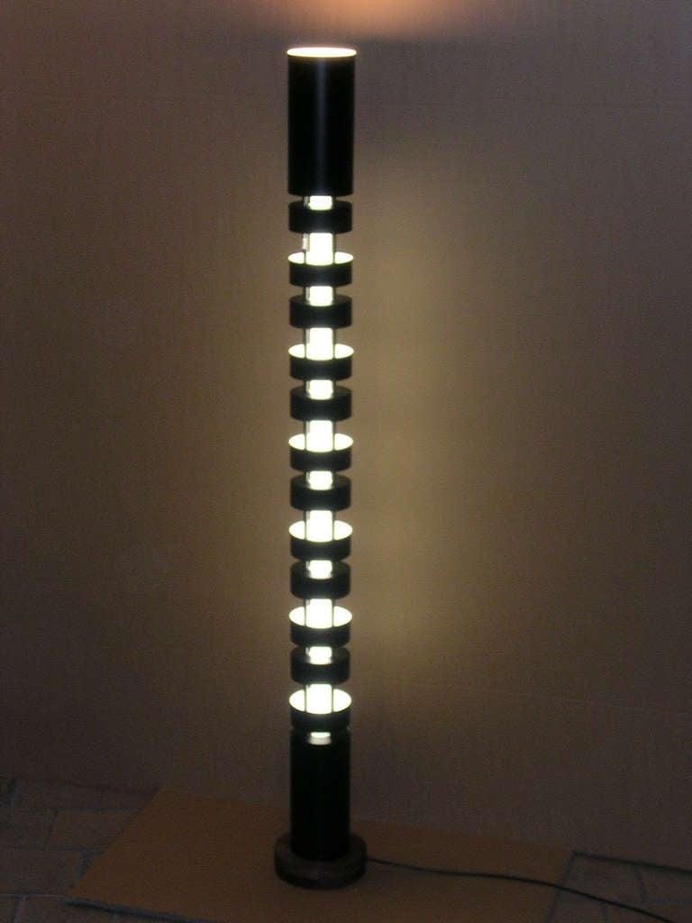 serge mouille totem floor lamp for sale at 1stdibs. Black Bedroom Furniture Sets. Home Design Ideas