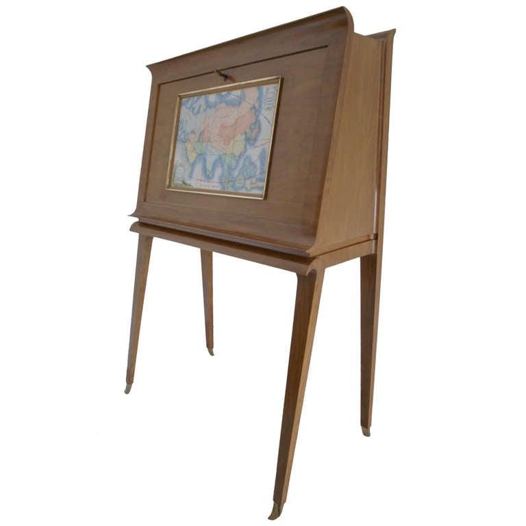 chippendale secretary desk with hutch