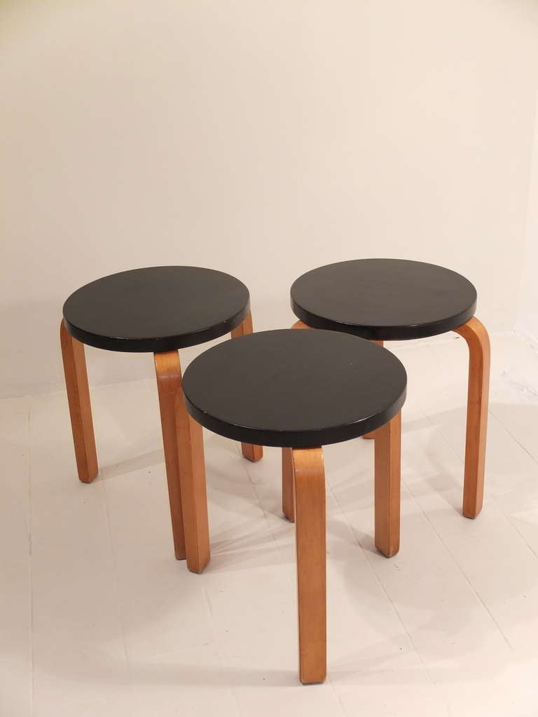 Alvar Aalto Stool Model No 60 Distributed By Finmar At