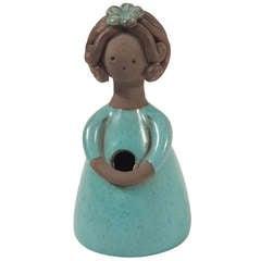Colette Gueden Sea-Green Glazed Ceramic Flower Vase