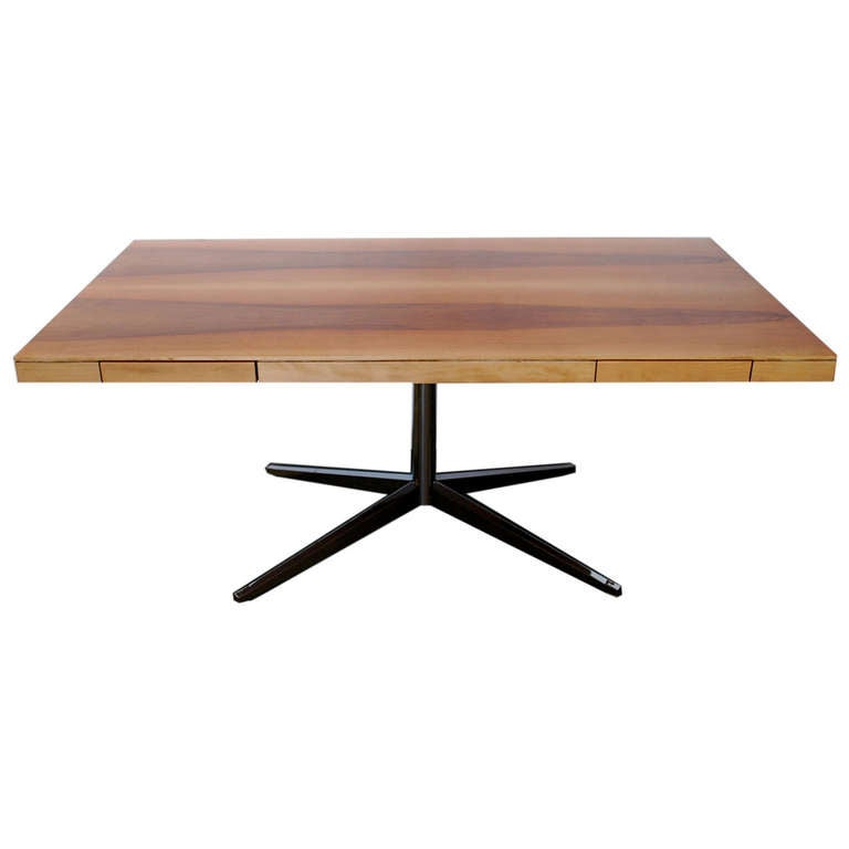 Florence Knoll Cherry Partners Desk At 1stdibs