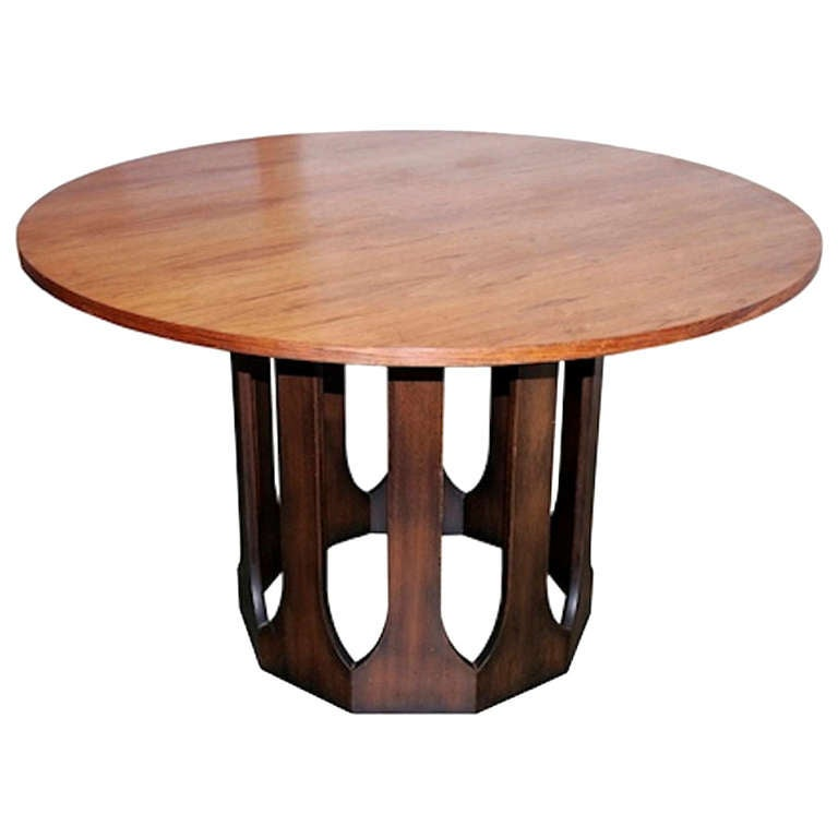 Harvey Probber Round Rosewood Game Table At 1stdibs