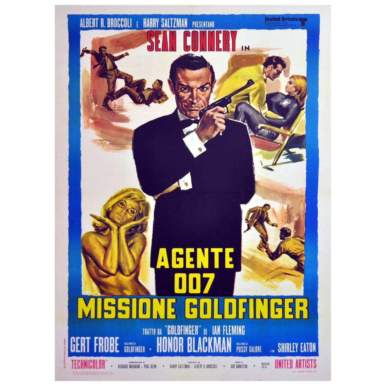 Original Vintage 007 James Bond Movie Poster - Goldfinger ...