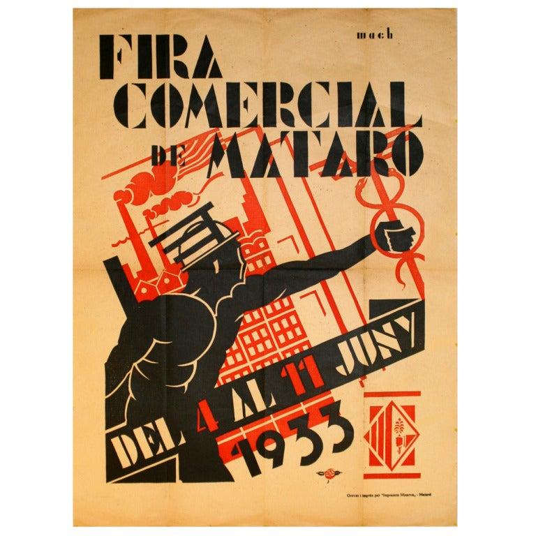 Rare Original Vintage Spanish Advertising Poster, Fira ...