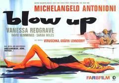 Original Vintage Movie Poster: Blow Up Starring Vanessa Redgrave, David Hemmings
