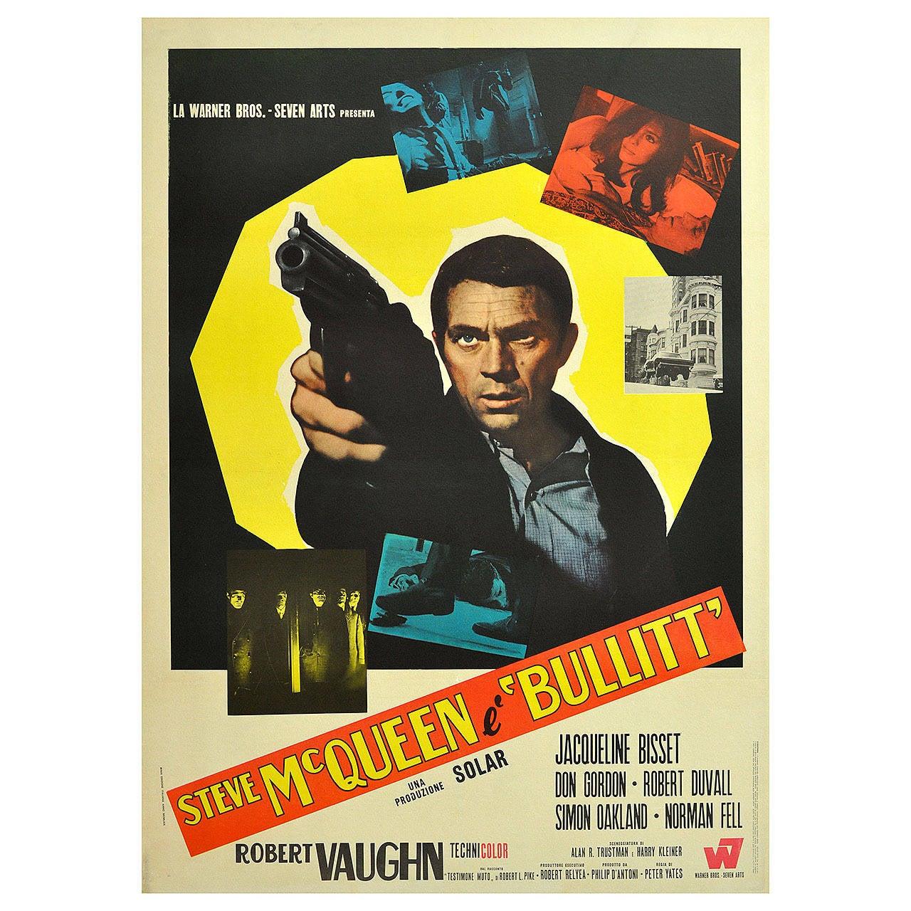 """Original Vintage Movie Poster for the Film """"Bullitt ..."""