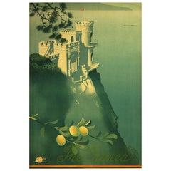 Original Vintage 1930s Intourist Travel Poster The Crimea Swallow's Nest Castle