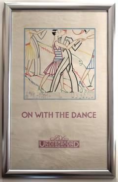 Set of four Art Deco London Underground Posters 1927 Longley