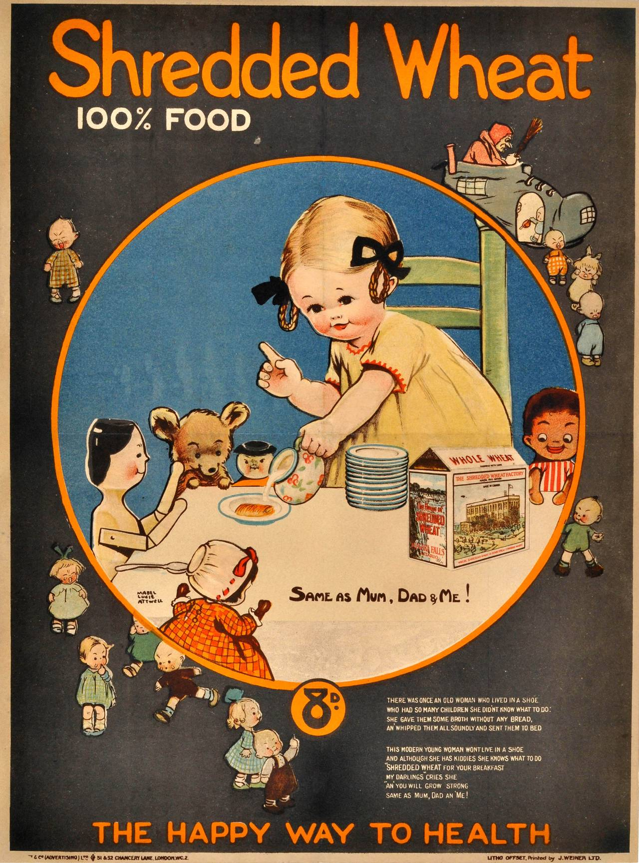 Rare Early Original Advertising Poster By Mabel Lucie ...