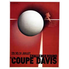 Original Vintage Art Deco Poster by Cassandre Official Reissue for the Davis Cup