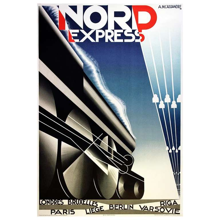 original deco steam poster for nord express