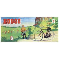 Original Vintage Poster for Rudge Bicycles