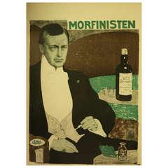 Original Vintage Poster For Morfinisten