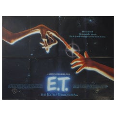 "Original Vintage Cinema Poster by John Alvin for the Steven Spielberg Film, ""ET"""