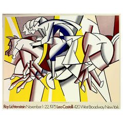 Original Vintage Poster by Roy Lichtenstein at the Leo Castelli Gallery
