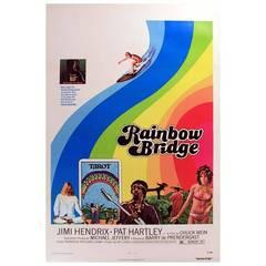 Original Vintage Film Poster Released with a Jimi Hendrix Album, Rainbow Bridge