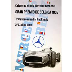 Original Poster for Mercedes Benz Victories at the Belgium Grand Prix 1955