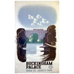 1930s London Underground poster by McKnight Kauffer featuring Buckingham Palace