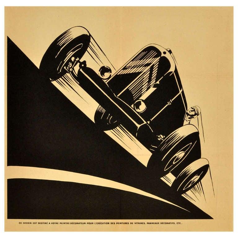 1930s art deco citroen petite rosalie racing car at 1stdibs. Black Bedroom Furniture Sets. Home Design Ideas