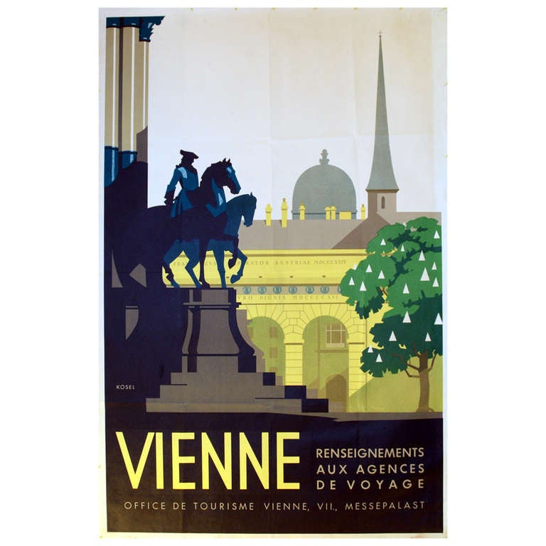 1930s Art Deco Travel Advertising Poster by Kosel, Vienna ...