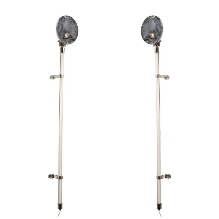 1970s Pair of Sconces by Peter Hamburger for Knoll