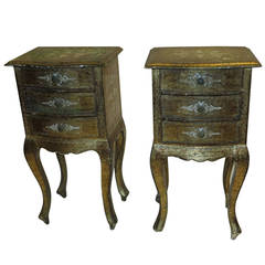 Pair of Italian gilt side tables
