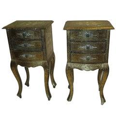 Pair of Italian gilt side tables