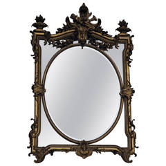 1880 Mirror Parecloses Gilded with Fire Urns