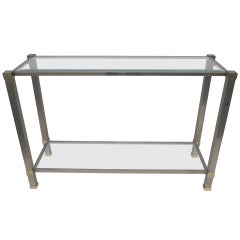 Silver and Gold Pierre Vandel Console