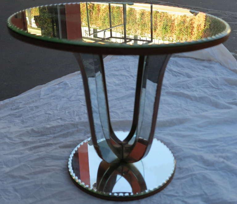 1950/70 Art Deco Pedestal Mirror In Good Condition For Sale In Paris, FR