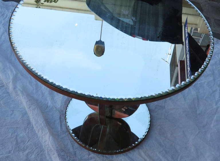 1950/70 Art Deco Pedestal Mirror For Sale 1