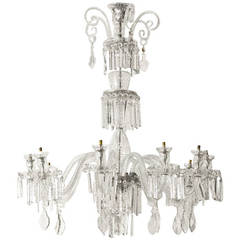 bohemian ruby red glass chandelier at 1stdibs