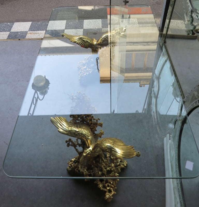 Gilt bronze eagles coffee table by boeltz for rom o paris for 13 a table paris
