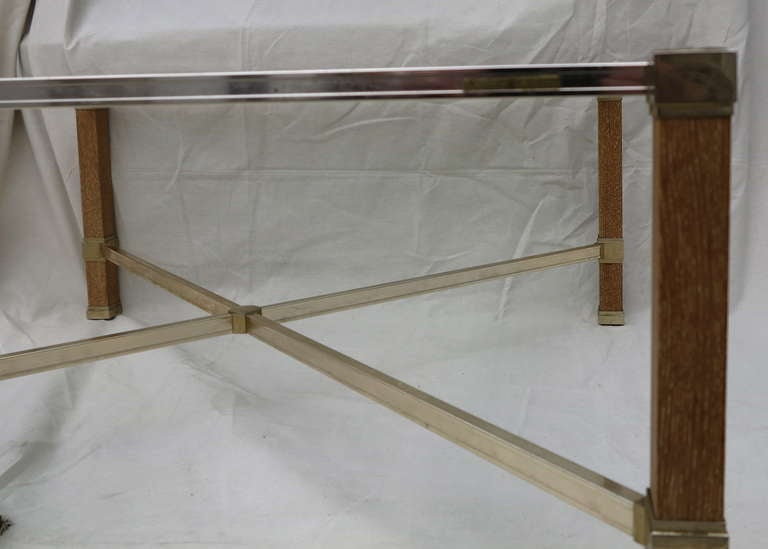 French Oak Pierre Vandel Signed Coffee Table For Sale