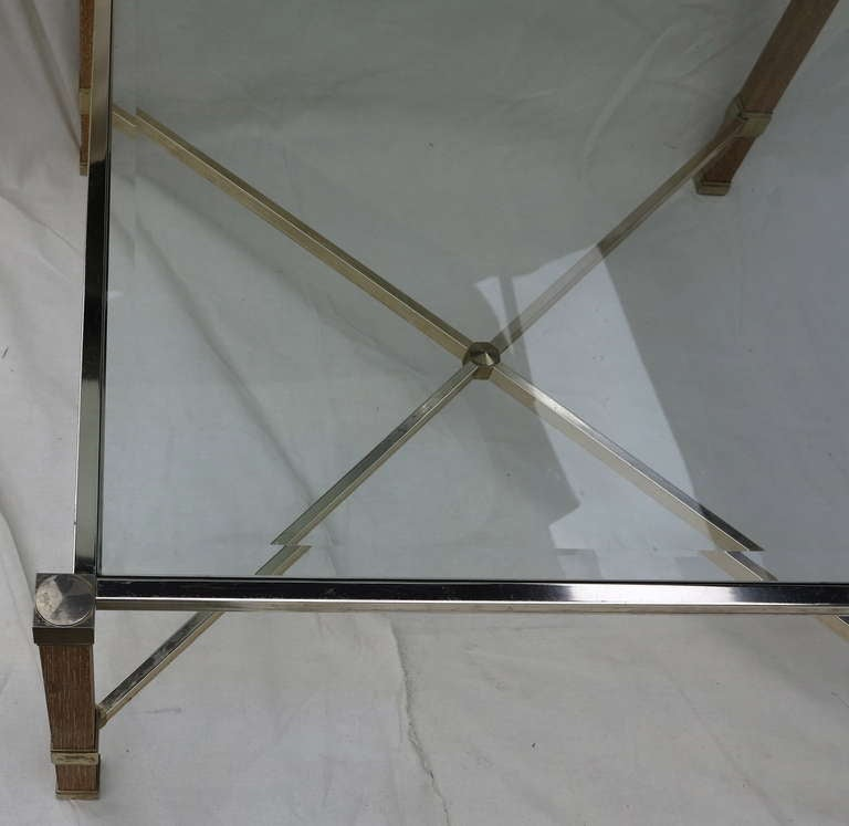 Late 20th Century Oak Pierre Vandel Signed Coffee Table For Sale
