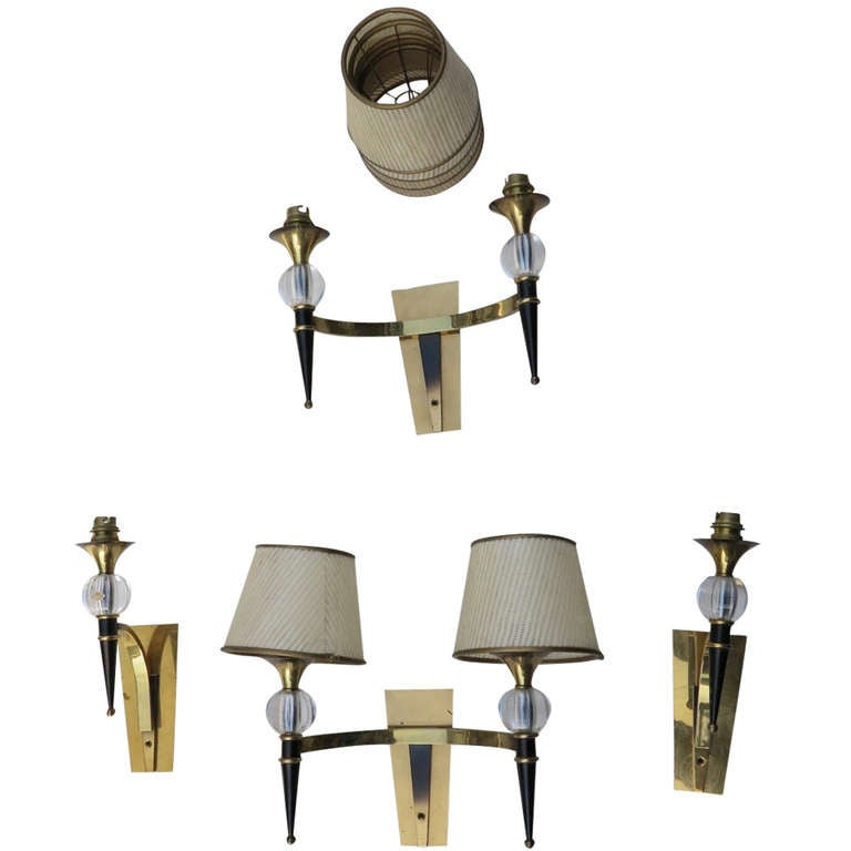 Sconces in the Manner of Jacques Adnet