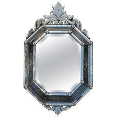 1880' Octagonal Venetian Style Mirror