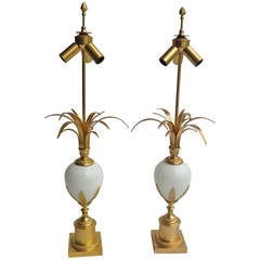 Pair of Table Lamps in the Style of Maison Charles