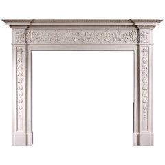 Georgian Style White Marble Mantel Piece