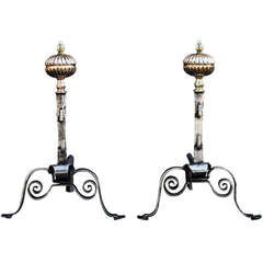Pair of 18th Century English Andirons