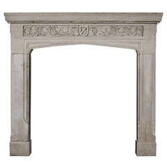English Stone Mantel in the Gothic Style