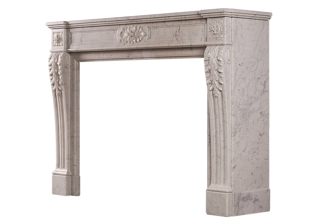 A French Louis Xvi Style Antique Fireplace Mantle At 1stdibs