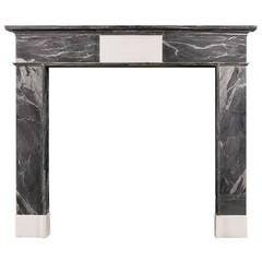 18th Century Irish Grey Bardiglio Marble Fireplace Mantel