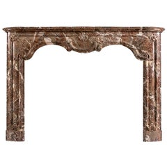 Period Louis XIV/XV Transitional Fireplace in Languedoc Marble