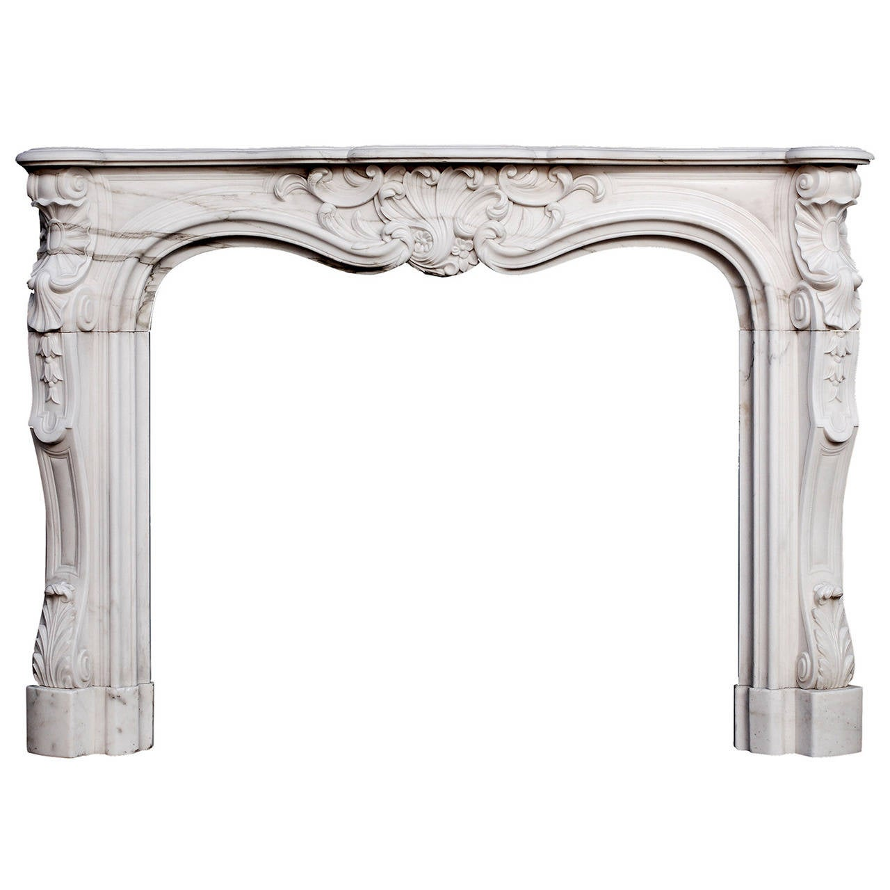 A 19th Century French Louis Xv Style Marble Fireplace Mantle For Sale At 1stdibs