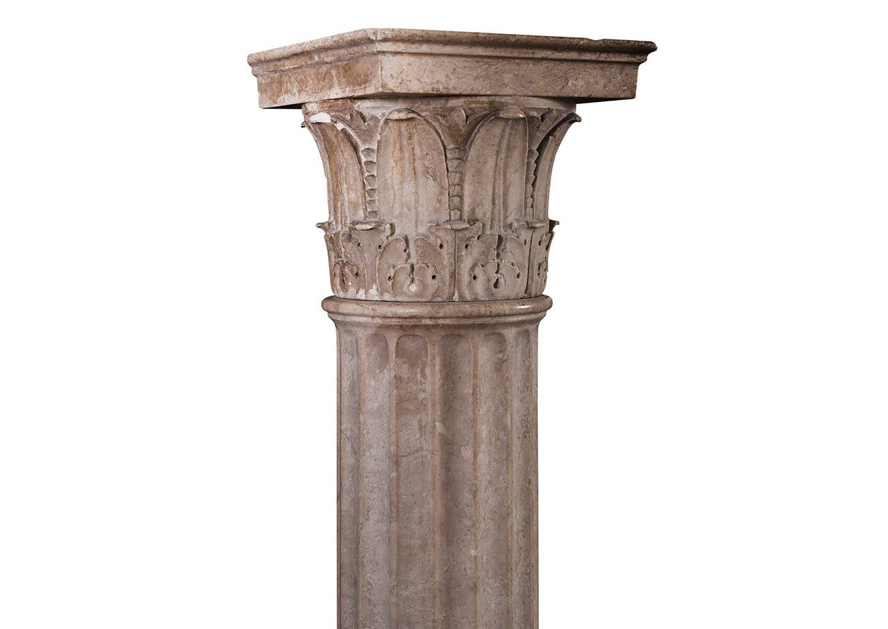 Construcion Stone Column : Collection of four neoclassical columns in istrian stone