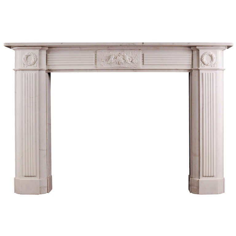 Period Regency Statuary White Marble Mantel