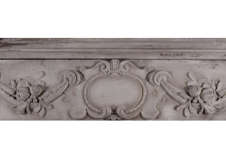 18th Century and Earlier Very Large 19th Century Carved Stone Renaissance Fireplace Mantel For Sale