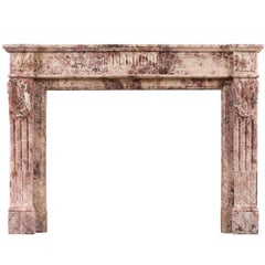 Fior di Pesco Marble Louis XVI Fireplace